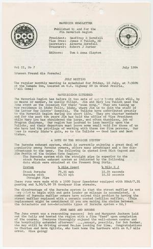 Primary view of object titled 'The Maverick Newsletter, Volume 2, Issue 7, July 1964'.