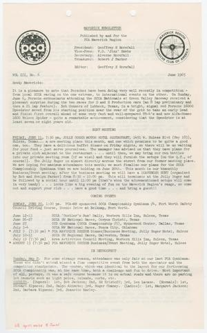 Primary view of object titled 'The Maverick Newsletter, Volume 3, Issue 6, June 1965'.