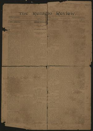 Primary view of object titled 'The Refugio Review. (Refugio, Tex.), Vol. 3, No. 3, Ed. 1 Friday, January 4, 1901'.