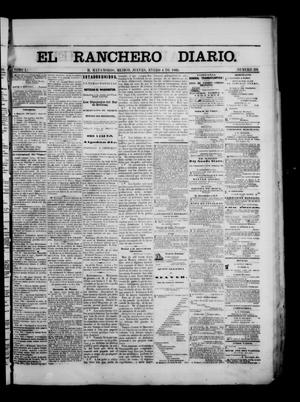 Primary view of object titled 'The Daily Ranchero. (Matamoros, Mexico), Vol. 1, No. 191, Ed. 1 Thursday, January 4, 1866'.