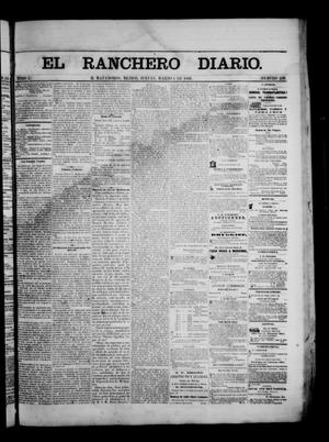 Primary view of object titled 'The Daily Ranchero. (Matamoros, Mexico), Vol. 1, No. 239, Ed. 1 Thursday, March 1, 1866'.