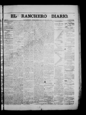 Primary view of object titled 'The Daily Ranchero. (Matamoros, Mexico), Vol. 1, No. 214, Ed. 1 Wednesday, January 31, 1866'.