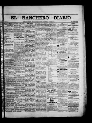 Primary view of object titled 'The Daily Ranchero. (Matamoros, Mexico), Vol. 1, No. 238, Ed. 1 Wednesday, February 28, 1866'.