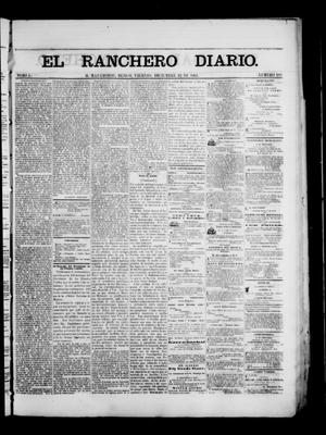 Primary view of object titled 'The Daily Ranchero. (Matamoros, Mexico), Vol. 1, No. 182, Ed. 1 Friday, December 22, 1865'.