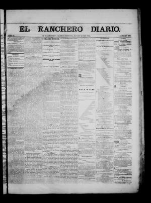 Primary view of object titled 'The Daily Ranchero. (Matamoros, Mexico), Vol. 1, No. 206, Ed. 1 Sunday, January 21, 1866'.