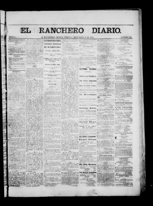 Primary view of object titled 'The Daily Ranchero. (Matamoros, Mexico), Vol. 1, No. 176, Ed. 1 Friday, December 15, 1865'.
