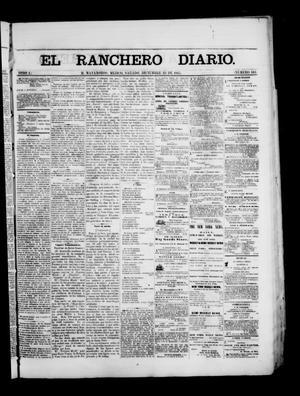 Primary view of The Daily Ranchero. (Matamoros, Mexico), Vol. 1, No. 183, Ed. 1 Saturday, December 23, 1865