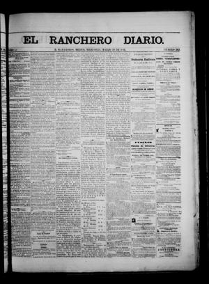 Primary view of object titled 'The Daily Ranchero. (Matamoros, Mexico), Vol. 1, No. 262, Ed. 1 Wednesday, March 28, 1866'.