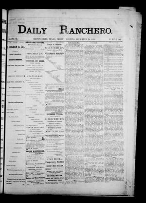 Primary view of object titled 'Daily Ranchero. (Brownsville, Tex.), Vol. 2, No. 103, Ed. 1 Friday, December 28, 1866'.