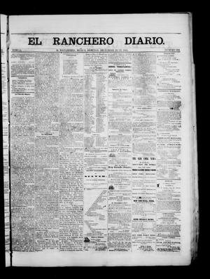 Primary view of object titled 'The Daily Ranchero. (Matamoros, Mexico), Vol. 1, No. 184, Ed. 1 Sunday, December 24, 1865'.