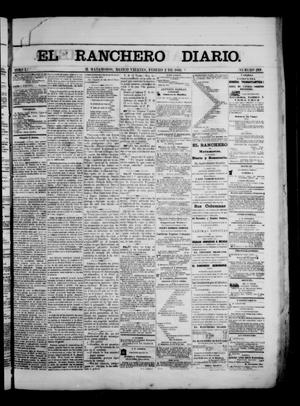 Primary view of object titled 'The Daily Ranchero. (Matamoros, Mexico), Vol. 1, No. 216, Ed. 1 Friday, February 2, 1866'.