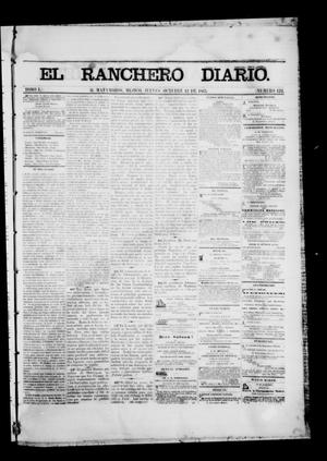 Primary view of object titled 'The Daily Ranchero. (Matamoros, Mexico), Vol. 1, No. 123, Ed. 1 Friday, October 13, 1865'.