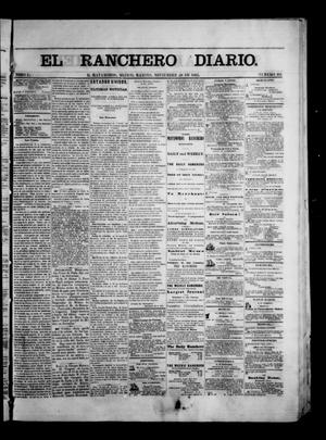 Primary view of object titled 'The Daily Ranchero. (Matamoros, Mexico), Vol. 1, No. 161, Ed. 1 Tuesday, November 28, 1865'.