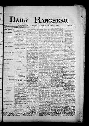 Primary view of object titled 'Daily Ranchero. (Brownsville, Tex.), Vol. 2, No. 73, Ed. 1 Wednesday, November 21, 1866'.