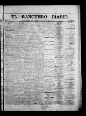 Primary view of object titled 'The Daily Ranchero. (Matamoros, Mexico), Vol. 1, No. 162, Ed. 1 Wednesday, November 29, 1865'.