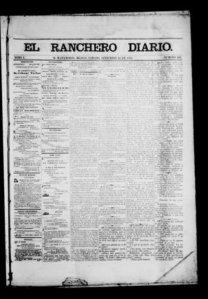 Primary view of object titled 'The Daily Ranchero. (Matamoros, Mexico), Vol. 1, No. 100, Ed. 1 Saturday, September 16, 1865'.