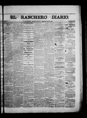 Primary view of object titled 'The Daily Ranchero. (Matamoros, Mexico), Vol. 1, No. 231, Ed. 1 Tuesday, February 20, 1866'.