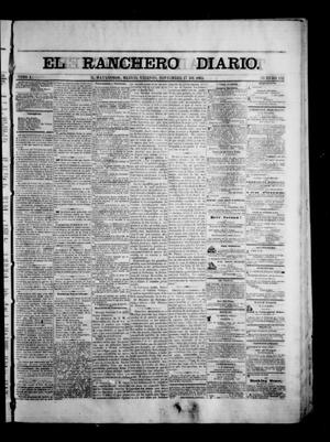 Primary view of object titled 'The Daily Ranchero. (Matamoros, Mexico), Vol. 1, No. 152, Ed. 1 Friday, November 17, 1865'.