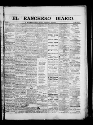 Primary view of object titled 'The Daily Ranchero. (Matamoros, Mexico), Vol. 1, No. 175, Ed. 1 Thursday, December 14, 1865'.