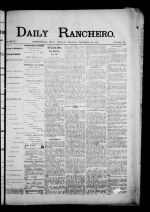 Primary view of object titled 'Daily Ranchero. (Brownsville, Tex.), Vol. 2, No. 72, Ed. 1 Tuesday, November 20, 1866'.