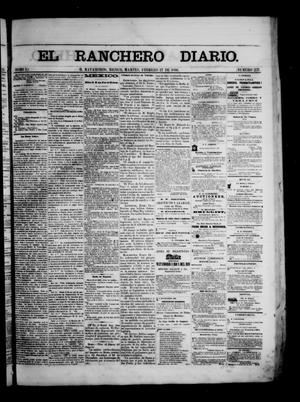 Primary view of object titled 'The Daily Ranchero. (Matamoros, Mexico), Vol. 1, No. 237, Ed. 1 Tuesday, February 27, 1866'.