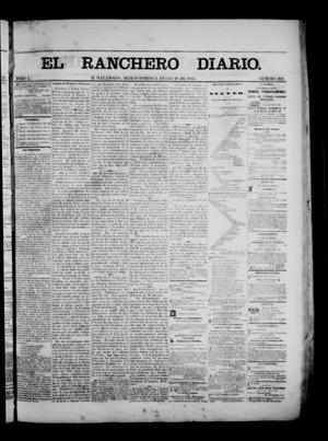 Primary view of object titled 'The Daily Ranchero. (Matamoros, Mexico), Vol. 1, No. 212, Ed. 1 Sunday, January 28, 1866'.