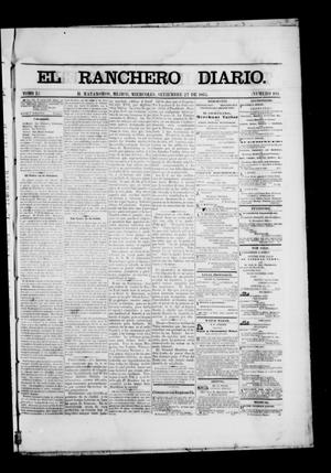 Primary view of object titled 'The Daily Ranchero. (Matamoros, Mexico), Vol. 1, No. 109, Ed. 1 Wednesday, September 27, 1865'.