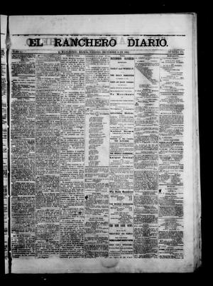 Primary view of object titled 'The Daily Ranchero. (Matamoros, Mexico), Vol. 1, No. 170, Ed. 1 Friday, December 8, 1865'.