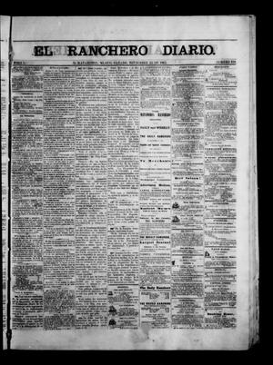 Primary view of object titled 'The Daily Ranchero. (Matamoros, Mexico), Vol. 1, No. 159, Ed. 1 Saturday, November 25, 1865'.