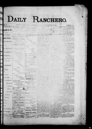 Primary view of object titled 'Daily Ranchero. (Brownsville, Tex.), Vol. 2, No. 88, Ed. 1 Saturday, December 8, 1866'.