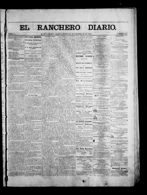 Primary view of object titled 'The Daily Ranchero. (Matamoros, Mexico), Vol. 1, No. 154, Ed. 1 Sunday, November 19, 1865'.