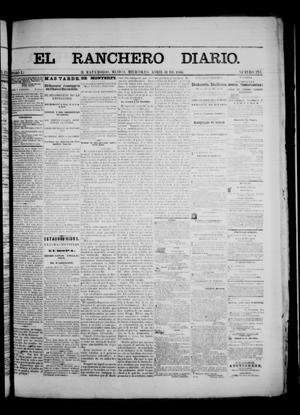 Primary view of object titled 'The Daily Ranchero. (Matamoros, Mexico), Vol. 1, No. 273, Ed. 1 Wednesday, April 11, 1866'.