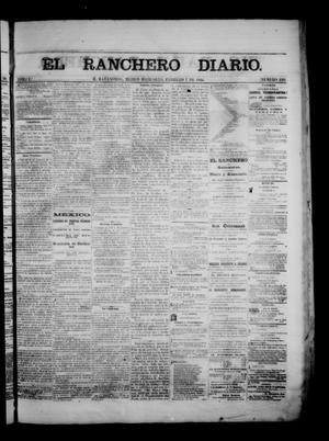 Primary view of object titled 'The Daily Ranchero. (Matamoros, Mexico), Vol. 1, No. 220, Ed. 1 Wednesday, February 7, 1866'.