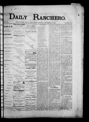 Primary view of object titled 'Daily Ranchero. (Brownsville, Tex.), Vol. 2, No. 96, Ed. 1 Wednesday, December 19, 1866'.