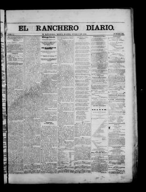 Primary view of object titled 'The Daily Ranchero. (Matamoros, Mexico), Vol. 1, No. 195, Ed. 1 Tuesday, January 9, 1866'.