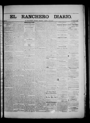 Primary view of object titled 'The Daily Ranchero. (Matamoros, Mexico), Vol. 1, No. 266, Ed. 1 Tuesday, April 3, 1866'.