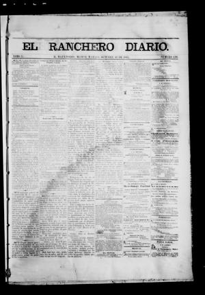 Primary view of object titled 'The Daily Ranchero. (Matamoros, Mexico), Vol. 1, No. 120, Ed. 1 Tuesday, October 10, 1865'.
