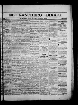 Primary view of object titled 'The Daily Ranchero. (Matamoros, Mexico), Vol. 1, No. 232, Ed. 1 Wednesday, February 21, 1866'.