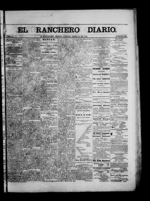 Primary view of object titled 'The Daily Ranchero. (Matamoros, Mexico), Vol. 1, No. 198, Ed. 1 Friday, January 12, 1866'.