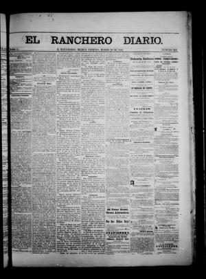 Primary view of object titled 'The Daily Ranchero. (Matamoros, Mexico), Vol. 1, No. 264, Ed. 1 Friday, March 30, 1866'.