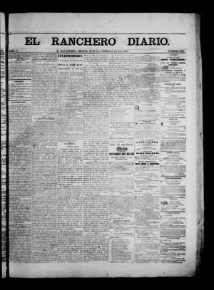 Primary view of object titled 'The Daily Ranchero. (Matamoros, Mexico), Vol. 1, No. 233, Ed. 1 Thursday, February 22, 1866'.