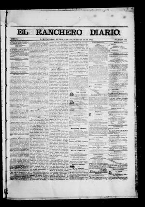 Primary view of object titled 'The Daily Ranchero. (Matamoros, Mexico), Vol. 1, No. 124, Ed. 1 Saturday, October 14, 1865'.