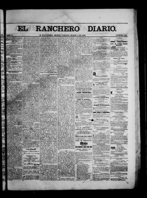 Primary view of object titled 'The Daily Ranchero. (Matamoros, Mexico), Vol. 1, No. 241, Ed. 1 Saturday, March 3, 1866'.