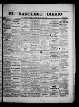 Primary view of object titled 'The Daily Ranchero. (Matamoros, Mexico), Vol. 1, No. 249, Ed. 1 Tuesday, March 13, 1866'.