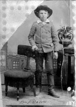 "Primary view of object titled '[Photograph of T.W. ""Bud"" Davis as a  young boy]'."