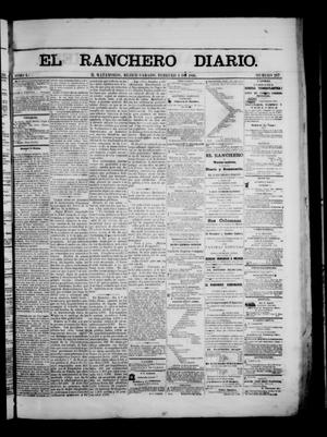 Primary view of object titled 'The Daily Ranchero. (Matamoros, Mexico), Vol. 1, No. 217, Ed. 1 Saturday, February 3, 1866'.