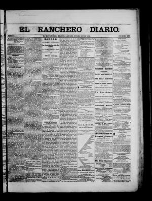 Primary view of object titled 'The Daily Ranchero. (Matamoros, Mexico), Vol. 1, No. 199, Ed. 1 Saturday, January 13, 1866'.