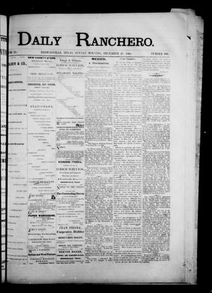 Primary view of object titled 'Daily Ranchero. (Brownsville, Tex.), Vol. 2, No. 100, Ed. 1 Sunday, December 23, 1866'.