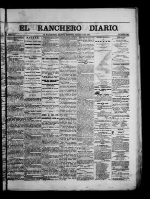 Primary view of object titled 'The Daily Ranchero. (Matamoros, Mexico), Vol. 1, No. 194, Ed. 1 Sunday, January 7, 1866'.