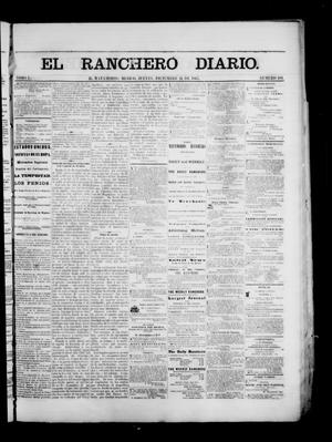 Primary view of object titled 'The Daily Ranchero. (Matamoros, Mexico), Vol. 1, No. 181, Ed. 1 Thursday, December 21, 1865'.